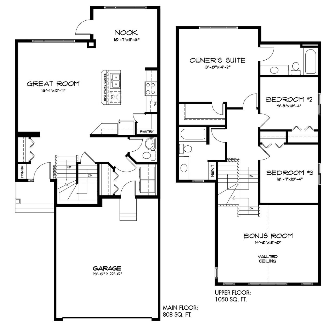3 Ravishing New Quick Possession Homes Estonian Floorplan image