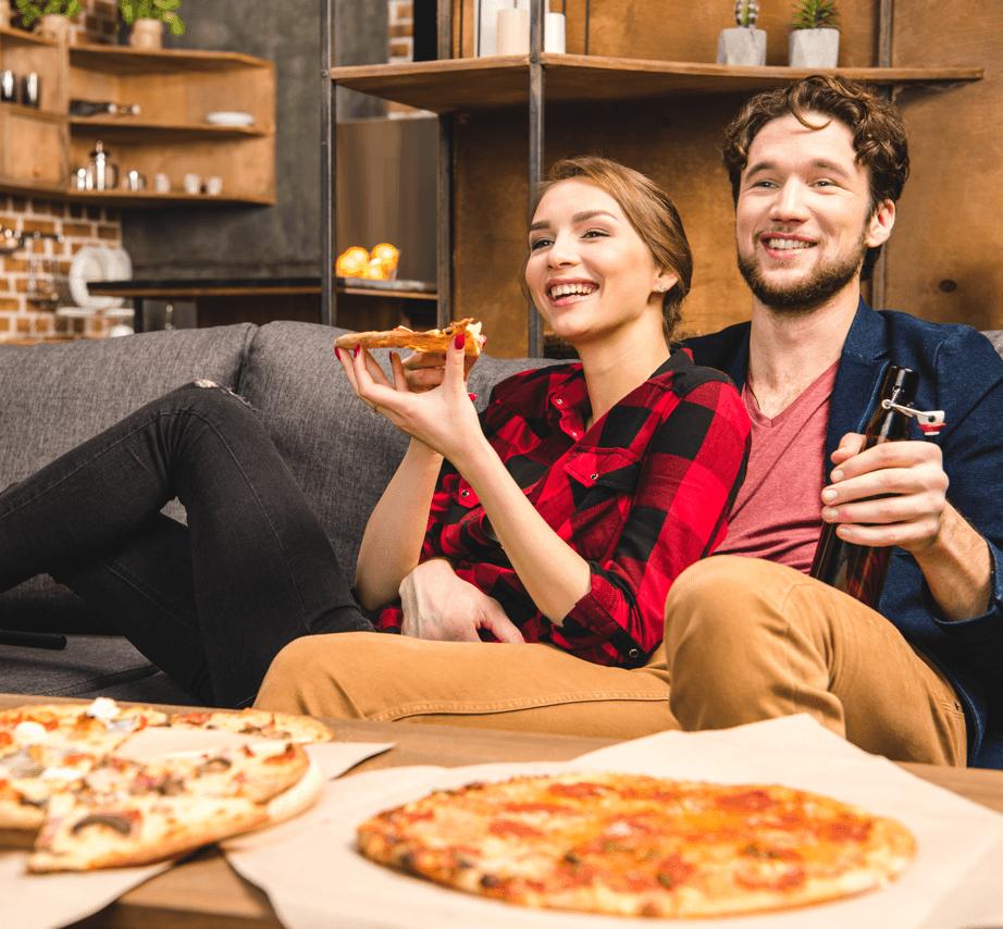 Man Cave vs. Diva Den Pizza image